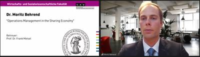 Dr. Moritz Behrend erhält Fakultätspreis 2020 der CAU